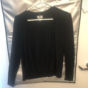 Old Navy open front black cardigan